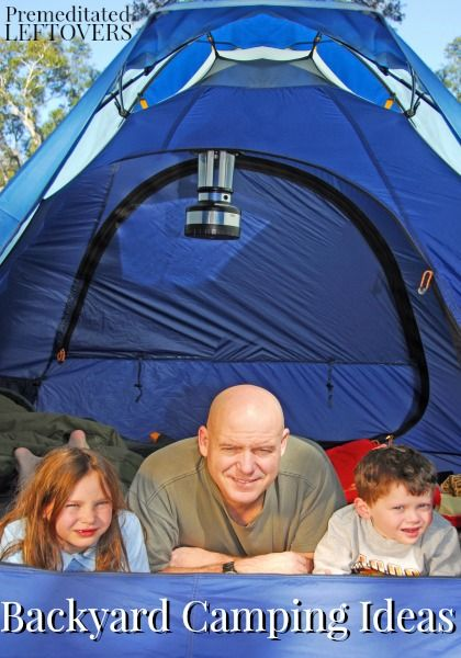 Backyard camping ideas for children
