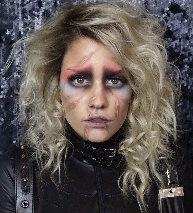 Female Edward Scissorhand makeup