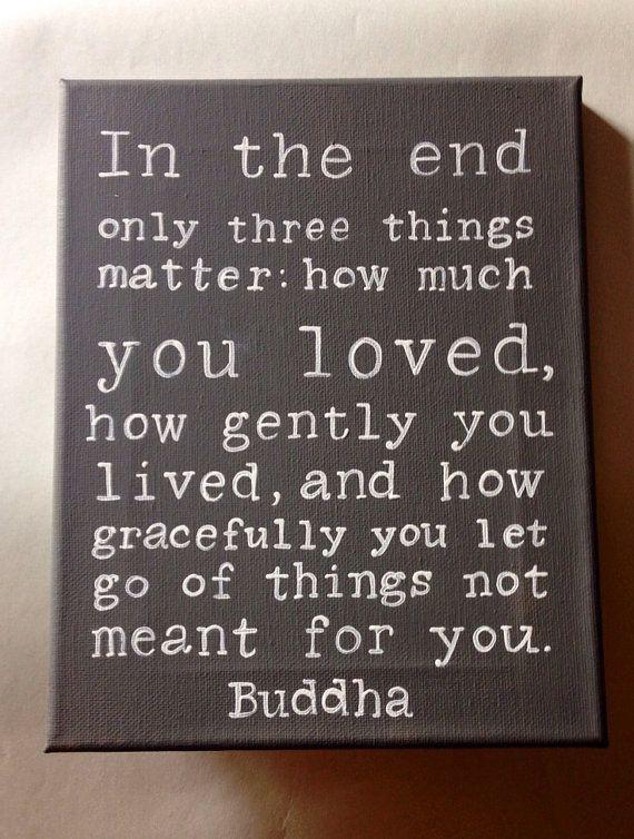 Buddha Quote Hand Painted Wall Art