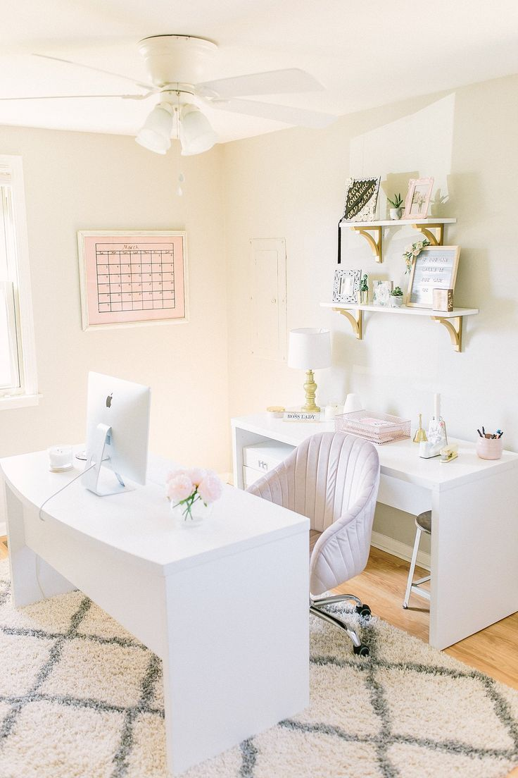 Home Office Tour Jannahalexanderphotography Com In 2020 Home Office Design White Office Decor Chic Office Decor