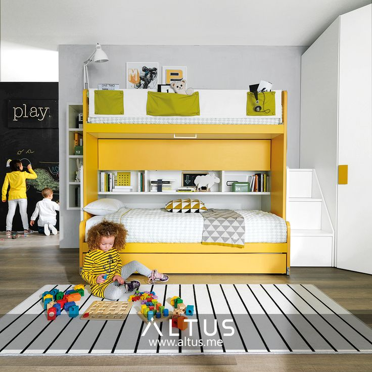 Zalf systems ensure that your child's room has space for everything they need--sleeping, studying, and storage--while leaving plenty of space for what they want: to play! www.Altus.me #InteriorDesign #Design #Luxury #Furniture #HomeDeco #Inspiration #Decoration #Organization #Parenting #Parents #Mom #Dad #Kids #Bedroom