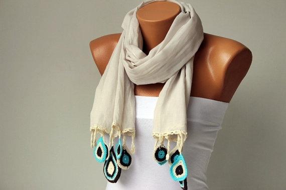 Turkish oya scarf