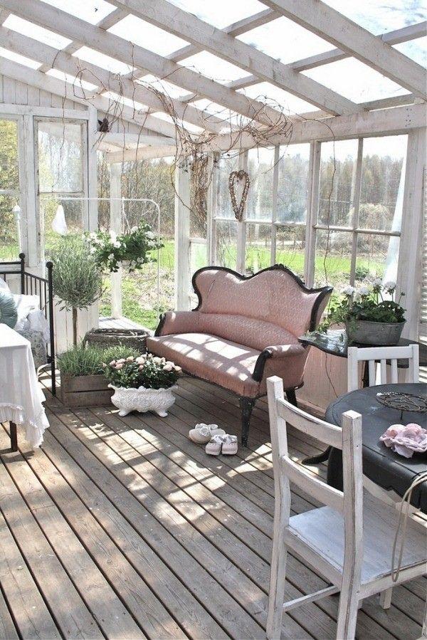 mobilier de jardin d'hiver Shabby Chic canapé de style scandinave