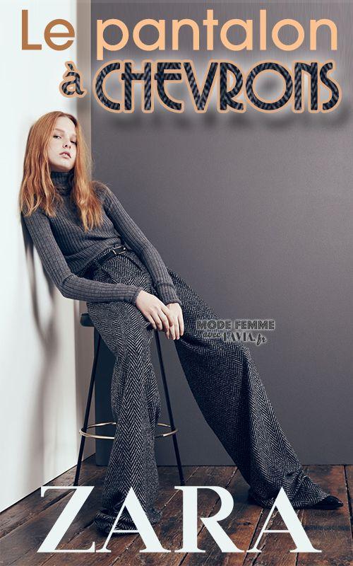 Pantalon à chevrons Zara