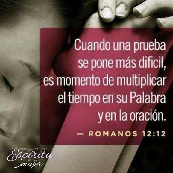 Romanos 12:12 gozosos en la esperanza; sufridos en la tribulación; constantes en la oración.♔