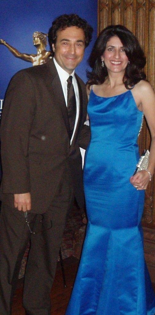 Barbara Ficarra and John La Puma, MD at the Freddie Awards - Healthin30