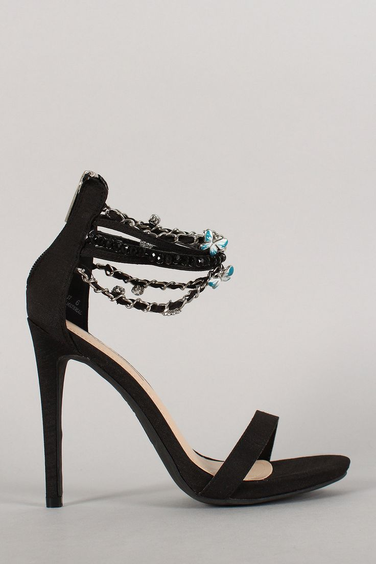 Heels With Chain Ankle Strap
