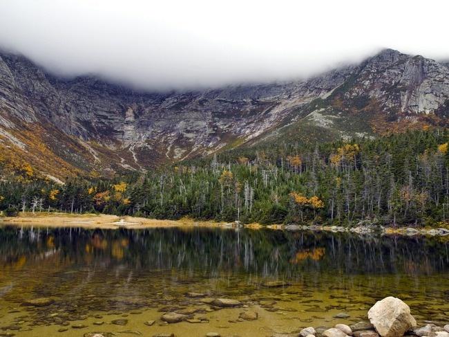 Chimney Pond, Baxter State Park, Maine in Autumn