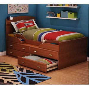South Shore Imagine Collection Captain's Storage Bed, Morgan Cherry