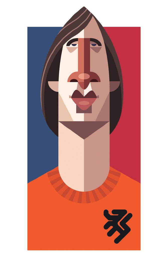 Famous Football Playmaker Illustration