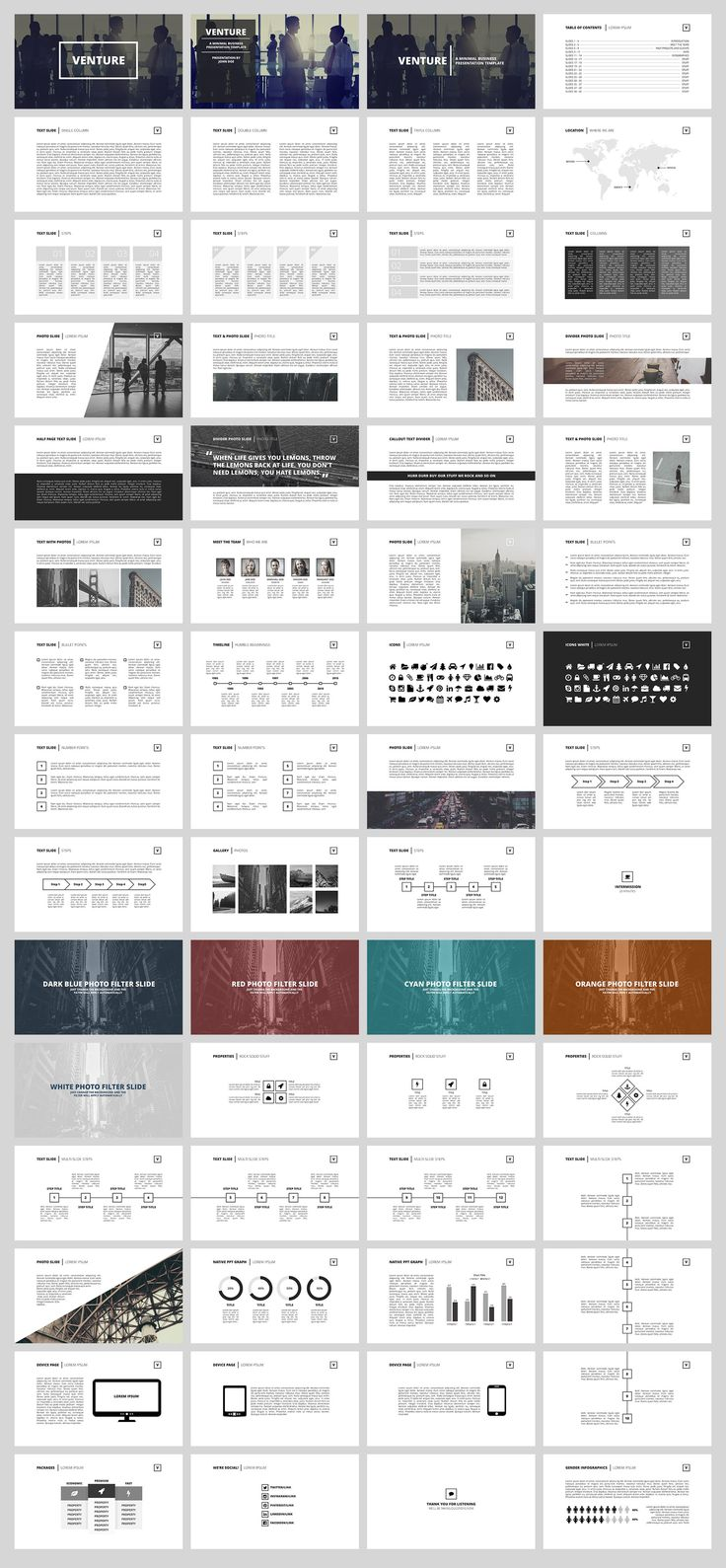 Venture Business Minimal Presentation Template Design