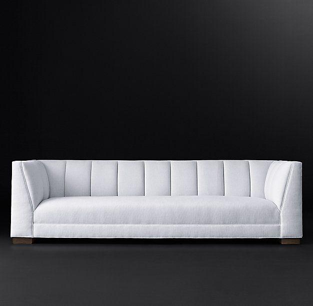 "Paxton Fabric Sofa 6', 7', 8', 9', 10' depth: 36"" height: 31"" RH MODERN"