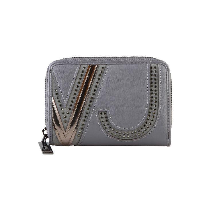 Versace Jeans E3VMBPJ175256 Faux Leather Women's Wallet, Grey