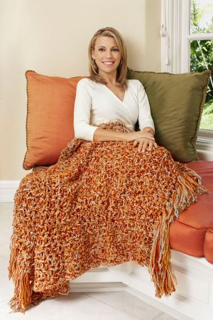 5 1/2 Hour Throw - free crochet pattern from Lion Brand website