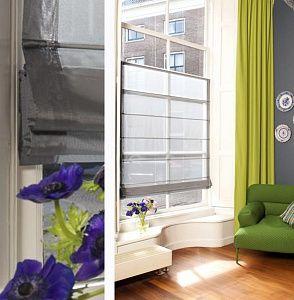 vouwgordijn top down/bottom up is mooier tegen inkijk dan folie op het raam...