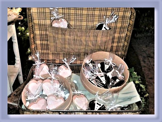 Bride and Groom wedding cookies.