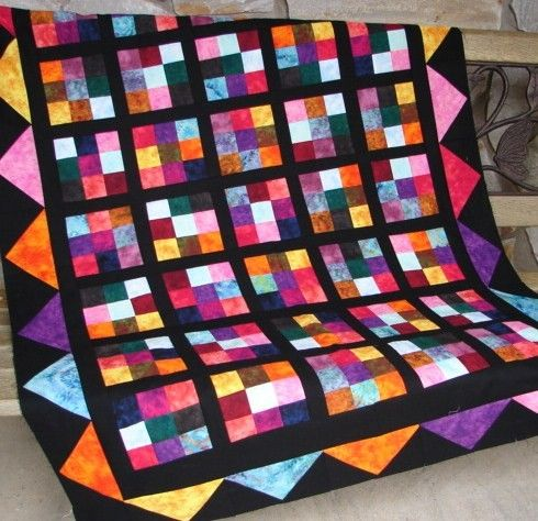 Quilt Pattern Hot Flash Quilt Pattern Wallhanging Lap Or