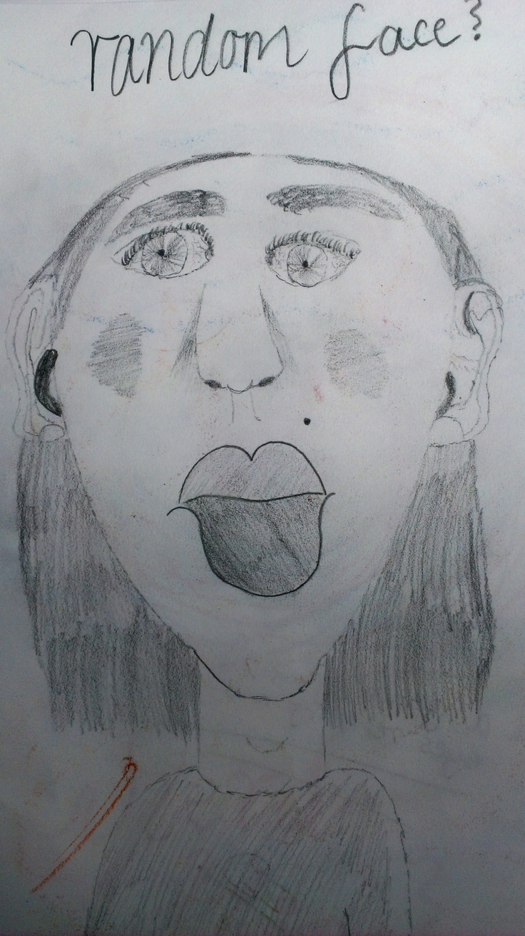 Illustration of a random face, using pencils