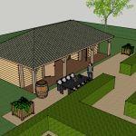 Ontwerp landelijke houten kapschuur maatwerk met oog voor details www.vechtdalbouwsystemen.nl info@vechtdalbouwsystemen.nl tel: 06-465827897