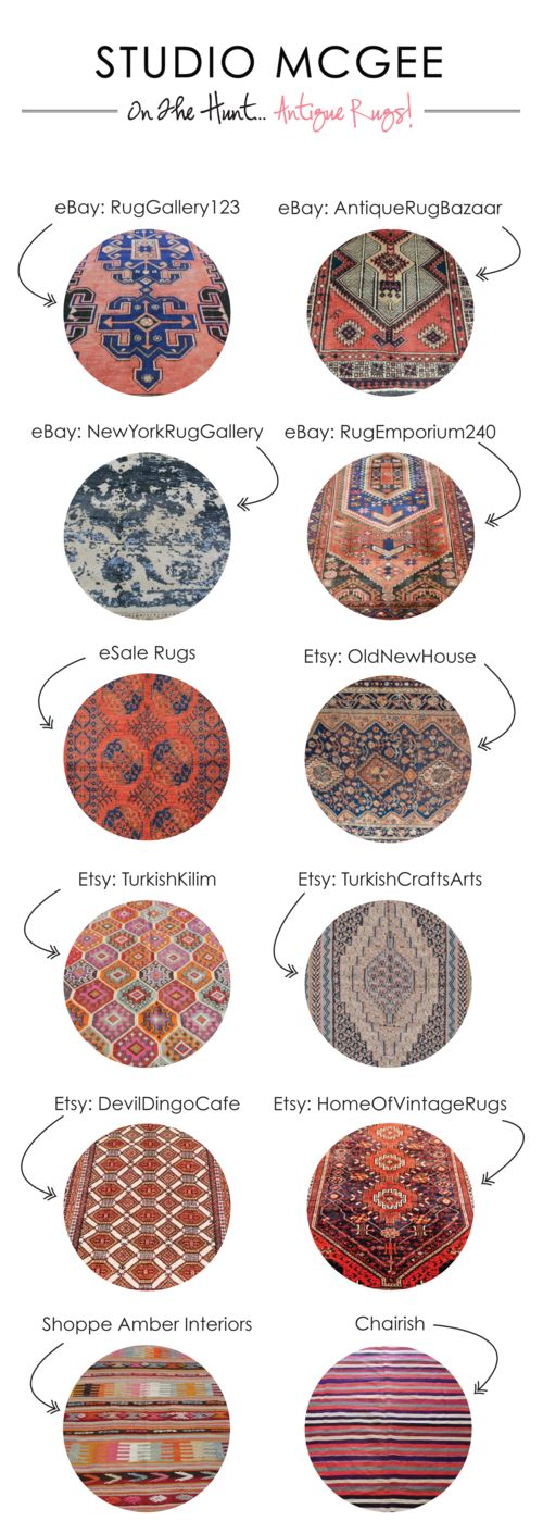 Confession: I have an addiction to sourcing Persian and Turkish rugs  online. They add warmth, character and sophistication to any room. I think  all homes need to incorporate a few vintage or antique pieces and a rug is  the perfect way to do just that.