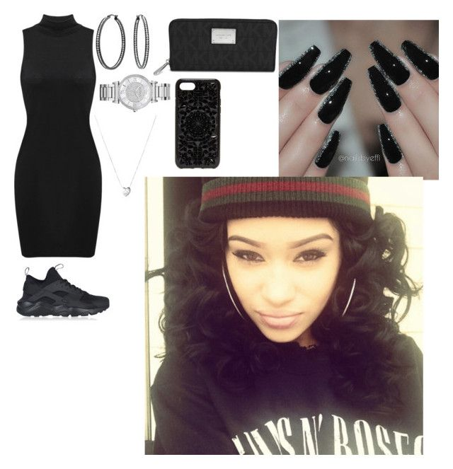 """""""Untitled #477"""" by queen-ayanna on Polyvore featuring NIKE, Bling Jewelry, Links of London, Michael Kors and Felony Case"""