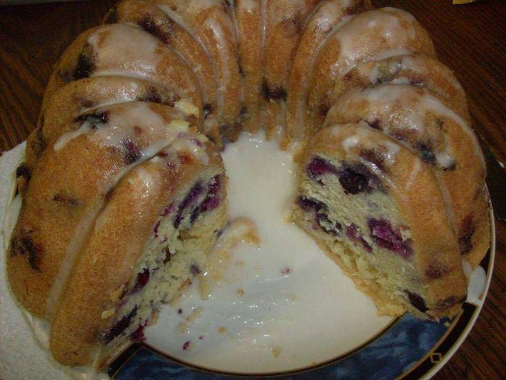 Fresh Blueberry Pound Cake