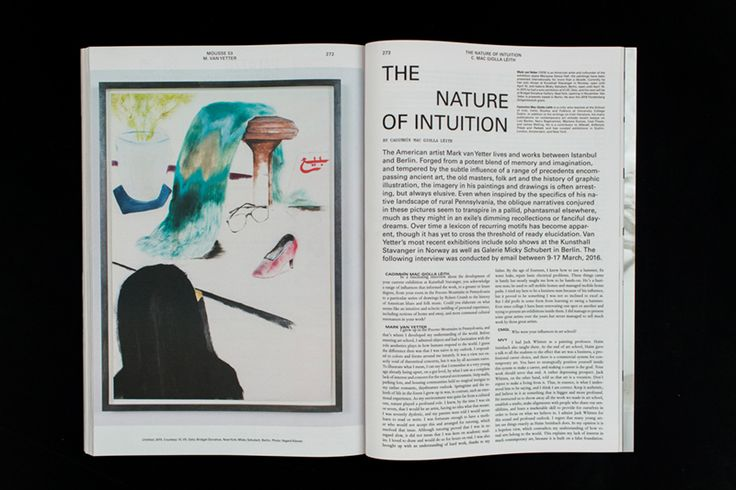 Mousse Magazine #53 ~ #markvanyetter #interview #art #contemporaryart #magazine #moussemagazine