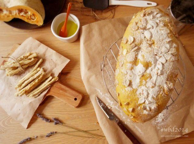 Pan de calabaza y Palitos de queso a las finas hierbas #wbd2014 con molde Lekue