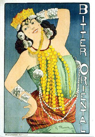 Flasschoen - Bitter Oriental - 1897 vintage poster