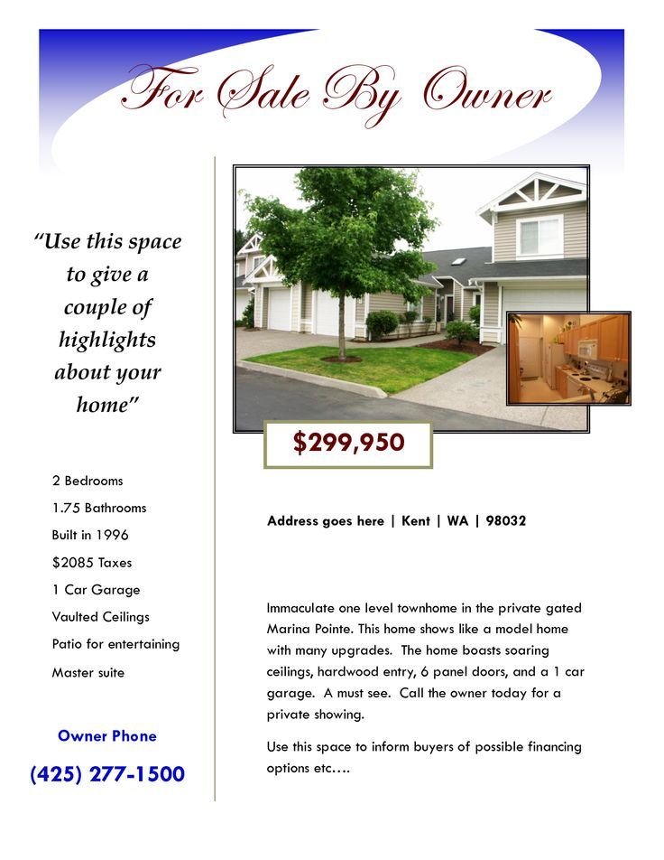 house for sale flyer - Google Search Real Estate Flyers - home for sale brochure