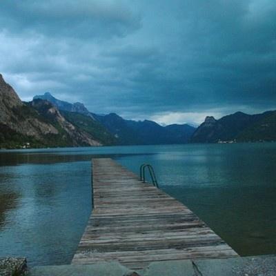 Lake Traunsee in Gmunden, Austria
