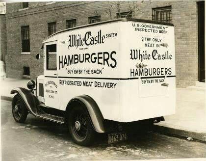 white castle hamburgers truck
