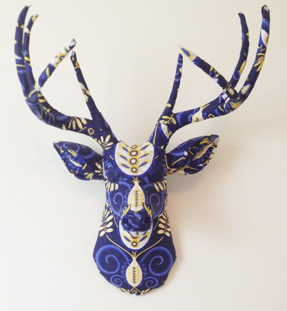 Blue Doozie Deer Head Wall Mount READY TO by BananaTreeStudios, $205.00