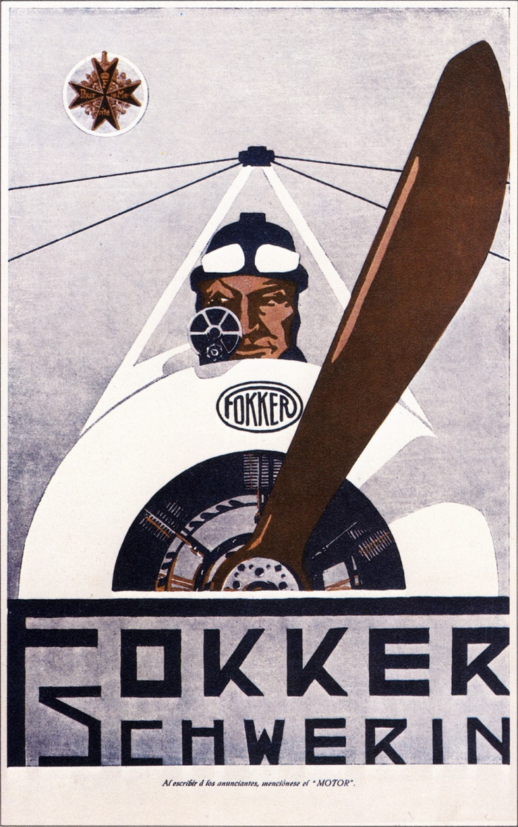 advertisement for the Fokker company