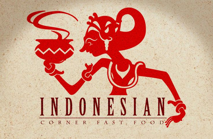 """logo design for the Indonesian restaurant somewhere located in Jb, M'sia inspiration from Indonesian traditional """"wayang kulit"""" which means """"Shadow Puppet Theater"""""""