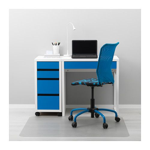 micke desk white blue white blue 28 3 4x19 5 8 office. Black Bedroom Furniture Sets. Home Design Ideas