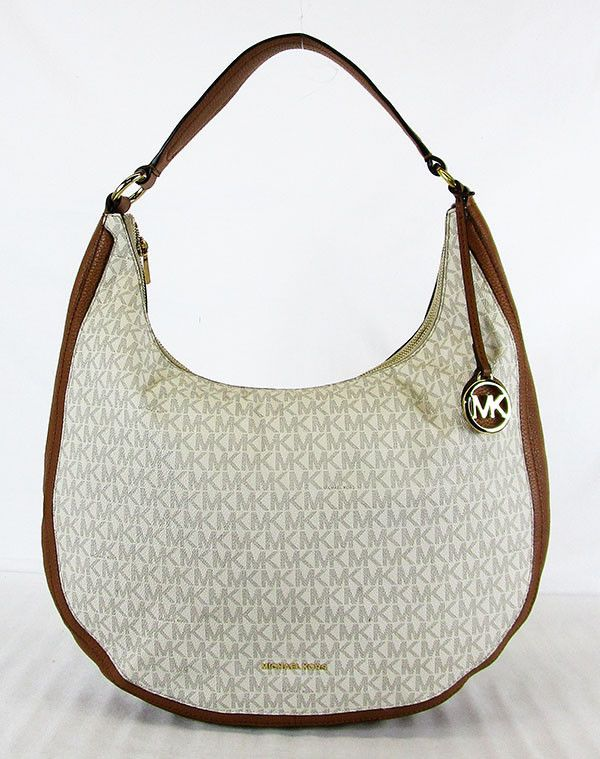 8ccf6cf7702f MICHAEL KORS LYDIA Signature Vanilla Coated Twill LG Shoulder Hobo Bag  298   fashion  clothing  shoes  accessories  womensbagshandbags (ebay link)