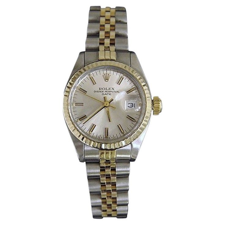 Rolex Rolex Date 6917 14K Yellow Gold and Stainless Steel With Silver Dial Womens Watch | TrueFacet