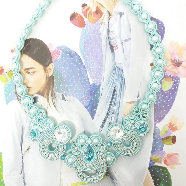 Tiffany colier.....completo con gli orecchini ....#eleganza #raffinatezza #colier #tittibihandemade #jewerly #collana #soutache #swaroski #designer