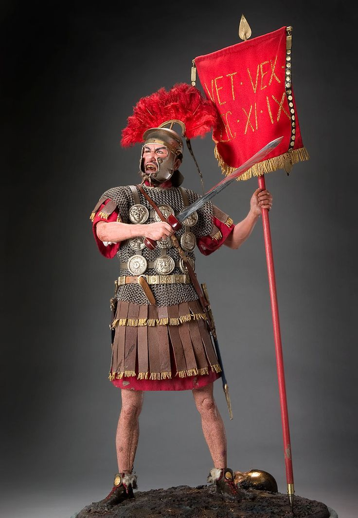Roman Centurion Centurion (Latin) was originally an officer commanding one hundred foot soldiers. As the rank developed several degrees of elevation, so did the number of men under the centurion's command. These officers were chosen for their intelligence and courage in battle. They were expected to lead the charge as an example. Men of this caliber frequently became leading figures in the politics of their time. The quality of the centurions indicated the effectiveness of the Roman Legions.
