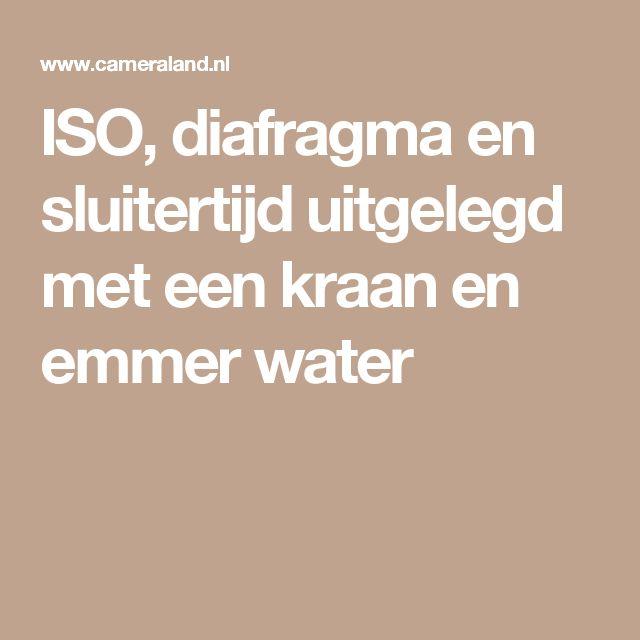 ISO, diafragma en sluitertijd uitgelegd met een kraan en emmer water