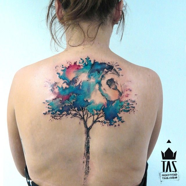 watercolour tree tattoo | by rodrigotas
