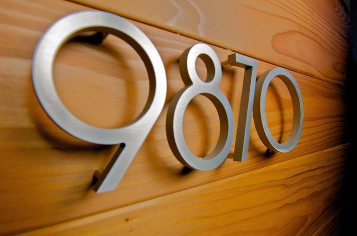 1000 Ideas About Contemporary House Numbers On Pinterest House Numbers Address Plaque And