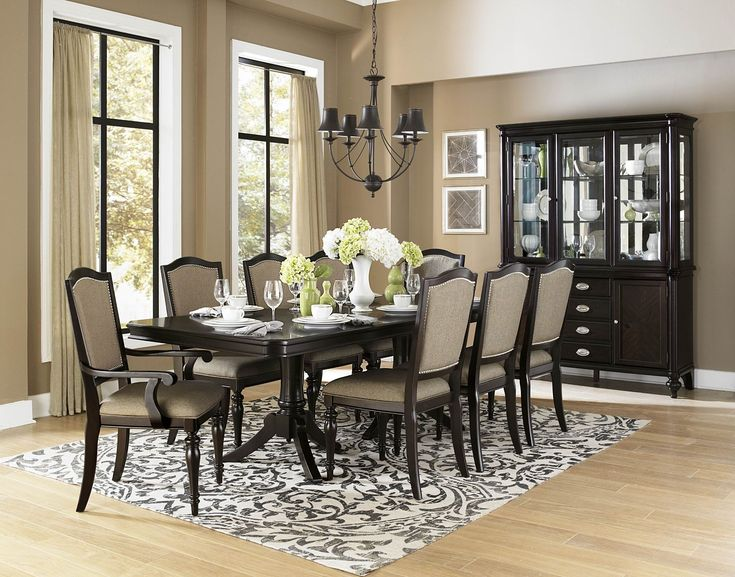 Marston Rectangular Extendable Dining Room Set 2965 For With China Cabinet And 6 Chairs