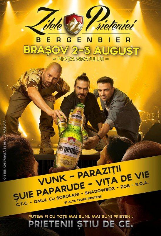"Ofer 4 invitatii VIP la ""Zilele Prieteniei Bergenbier"" Brasov !"