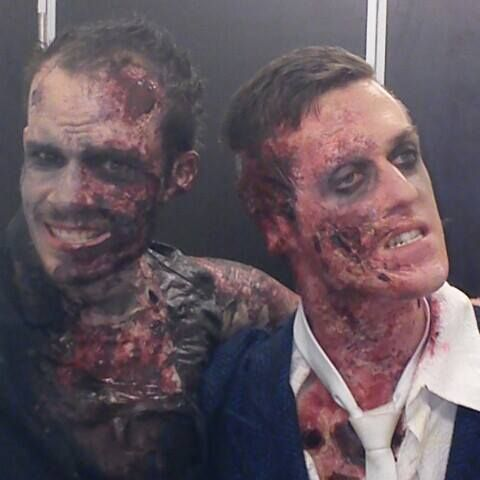 two zombies posing for the camera again!
