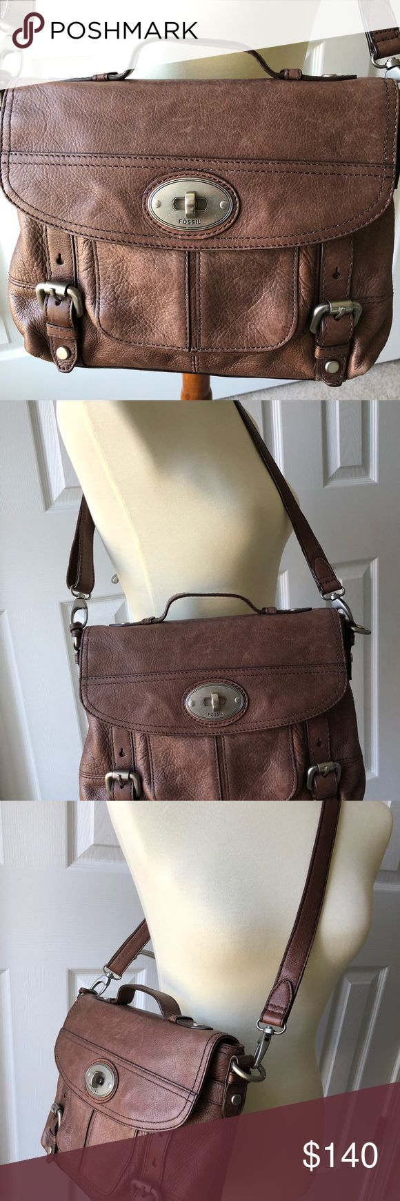 Fossil Vintage Saddle Leather Satchel/Crossbody Beautiful vintage saddle leather Fossil satchel/crossbody in excellent condition. The leather shows ageing but is common in this type of leather, it just adds to its beauty. No stains or damage. Comes from a smoke free home. Fossil Bags Satchels