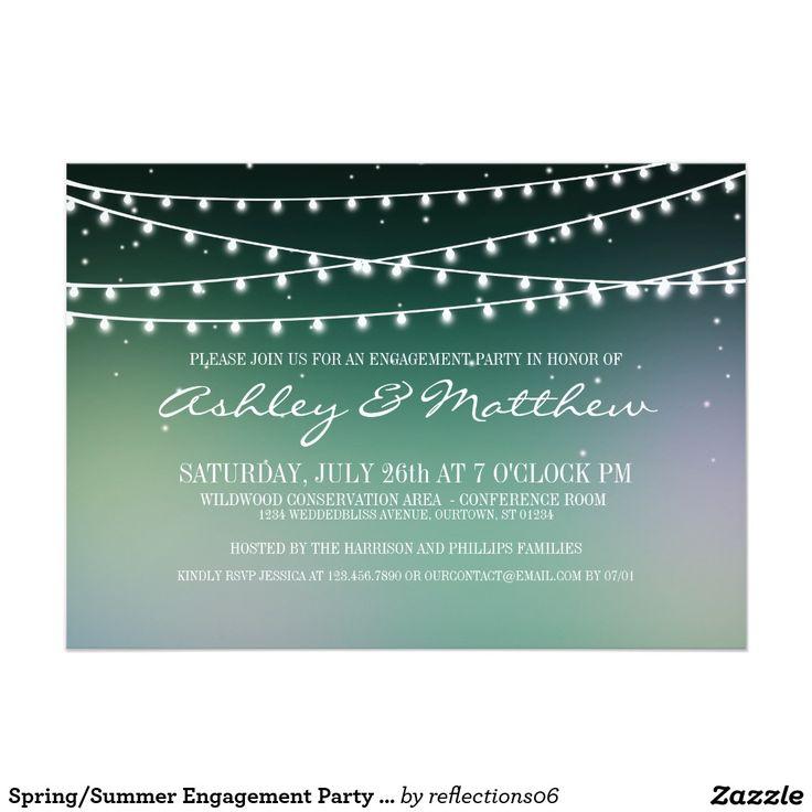 SpringSummer Engagement Party Invitation 20 best Wedding