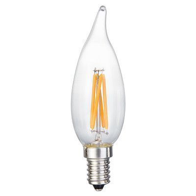 EdisonMills E12 LED Filament Light Bulb Wattage: 40 W