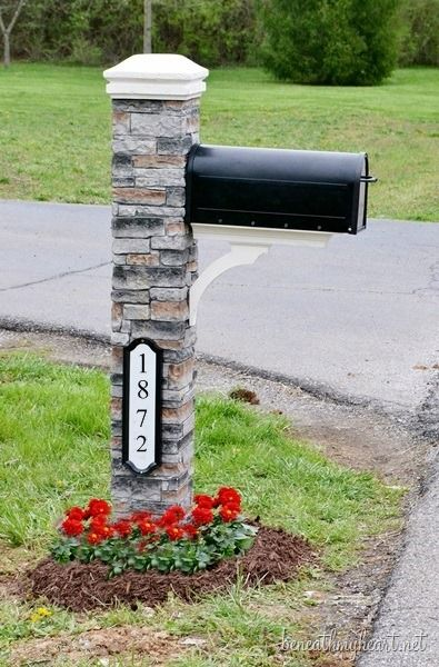 mailbox makeover- I want this. Love this. FYI don't grow tall flowers. Your mail man will not give you mail. Bees